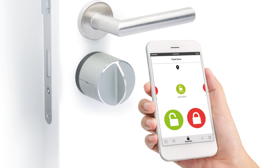 voordeur openen met de Smartphone Secur beveiliging